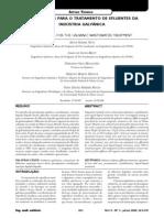 Alternativas Para o Tratamento de Efluentes Da Industria Galvanica