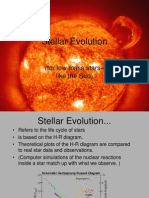 Stellar Evolution of Low Mass Stars