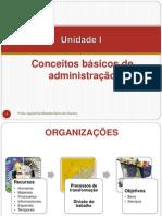 UNIDADE I - CONCEITOS BÁSICOS DE ADMINISTRAÇÃO