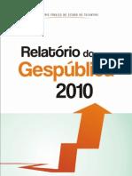 Relatorio Gespublica 2010