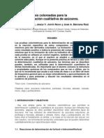 REACCIONES COLOREADAS DE AZÚCARES - Furfural