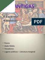 Cantigas- Escranio e Maldizer