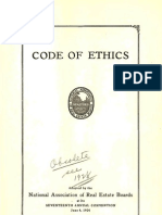 1924 Code of Ethics of the National Association of REALTORS®