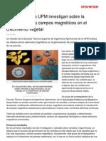 1)Científicos de la UPM investigan sobre la influencia de campos magneticos en el crecimiento vegetal