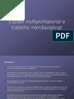 Trabalho Psicologia Hospitalar - Equipe Multiprofissional e Trabalho Interdisciplinar