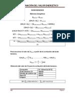Cálculos para determinar el valor energético (1)