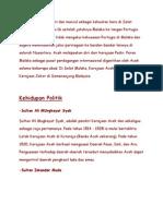 Kerajaan Aceh Berdiri Dan Muncul Sebagai Kekuatan Baru Di Selat Malaka