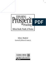 Exploring Prosperity Preaching Chapter Nine
