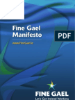 Fine Gael Election Manifesto 2011
