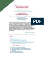 Modelos Deterministas