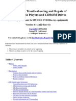 Notes on the Troubleshooting and Repair of Compact Disc Players and CDROM Drives