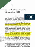TCHAYANOV - teoria dos sistemas economicos não-capitalistas
