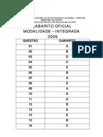 Gabarito da Prova do IFBA 2009