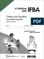 Prova do IFBA 2012
