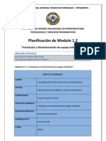 Planificación Módulo 1.2 1A TIC