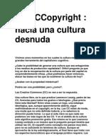Mattin Anti Copyright Hacia Una Cultura Desnuda