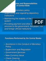 Central Bank Duties