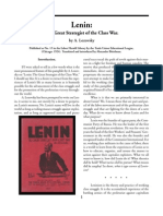 Lenin the Great Strategist of the Class War