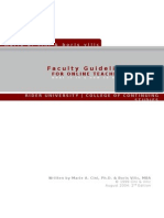 Faculty Guidelines Rider