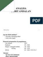 Analisa Debit Andalan
