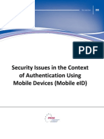 Security issues in the context of authentication using mobile devices (mobile eID)