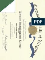 Superintendent's License