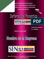 Defensa de Pasantias (Jenorca)Seniat