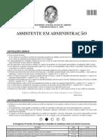 Prova de Assistente em Administração - Gabarito 2