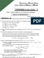Ensam 2005 Math