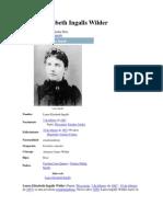 Biografia Laura Elizabeth Ingalls Wilder