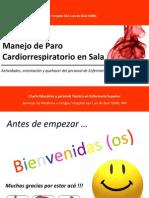 Presentación de Manejo de Paro Cardiorrespiratorio en Sala 2011