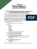 Installation Wood Floor
