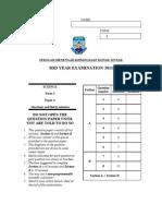Exam Sem1 2011 Sains f1 Paper 2