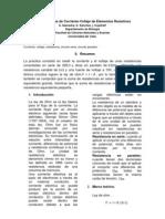Características de corriente y voltaje para circuitos resistivos con corriente directa