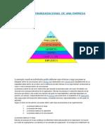 Piramide Jerarquizacional de Una Empresa