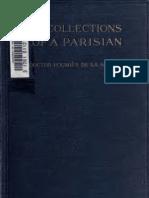 Recollections of a Parisian Under Six So - Poumies de La Siboutie, Francois Louis,