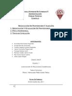 Negociación y evaluación con proveedores