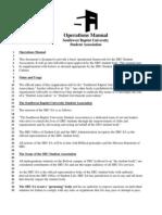 Official SBU Student Association Operations Manual