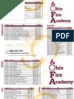 Ohio Fire Academy Schedule
