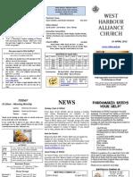 church Newsletter - 1 April 2012