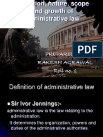 Administrative Law. Roll No.1