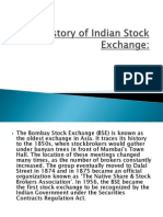 History of Indian Stock