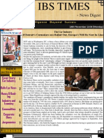 The IBS Times 37th Edition News Digest