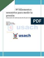Informe Nº3Elementos sensitivos para medir la presión