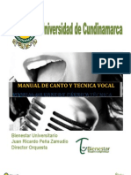 Manual de Canto y Tecnica Vocal