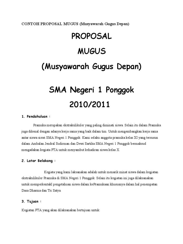 Contoh Proposal Mugus