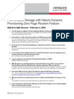 Dynamic Provisioning Software Zero Page Reclaim Feature q and a Session