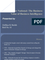 A61 Schneider National the Business Value of Business Intelligence