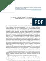 La investigación sobre Latinoamérica