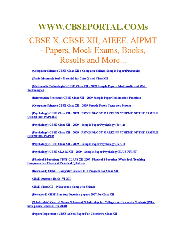 Cbse class xii useful papers and resources malvernweather Choice Image